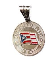Puerto Rico Flag .925 Sterling Silver Pendant - Pto. Rico Flag Pendant - $25.81