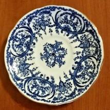 Coalport English Bone China Blue & White Saucer w/ Gold Trim Pattern # 1780 - $16.83