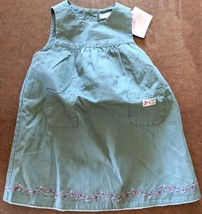 NWT Janie And Jack Green Dress 3 to 6 Months New Sleeveless Apron Infant... - $19.79