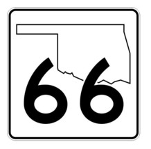 Oklahoma State Highway 66 Sticker Decal R5631 Highway Route Sign - $1.45+