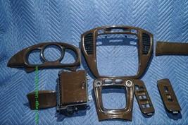 01-07 Toyota Highlander Woodgrain Dash Trim Kit Vents Console 8pc image 2