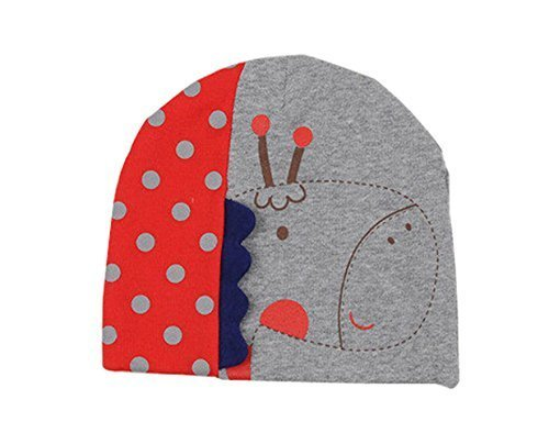 Hot Baby Warm Hat Cap Cute Giraffe 3D Baby Cotton Hats GREY, 3-24 Months