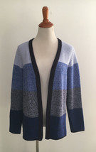 Talbots Petites Blue Open Waffle Knit Cardigan Sweater sz SP - $29.69