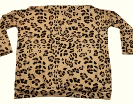New CBR Leopard Print Chic Boutique Rose Shirt Blouse Brown Ikat Womens ... - $34.64