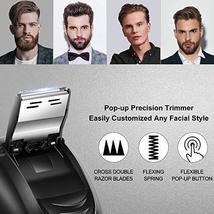 HATTEKER Electric Shaver Rotary Razor Men Cordless Beard trimmer Pop-trimmer Wet image 3