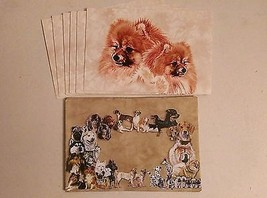 "Pack of 6 POMERANIAN DOGS Tree-Free Greeting cards with Envelopes 6"" x 4... - $7.91"