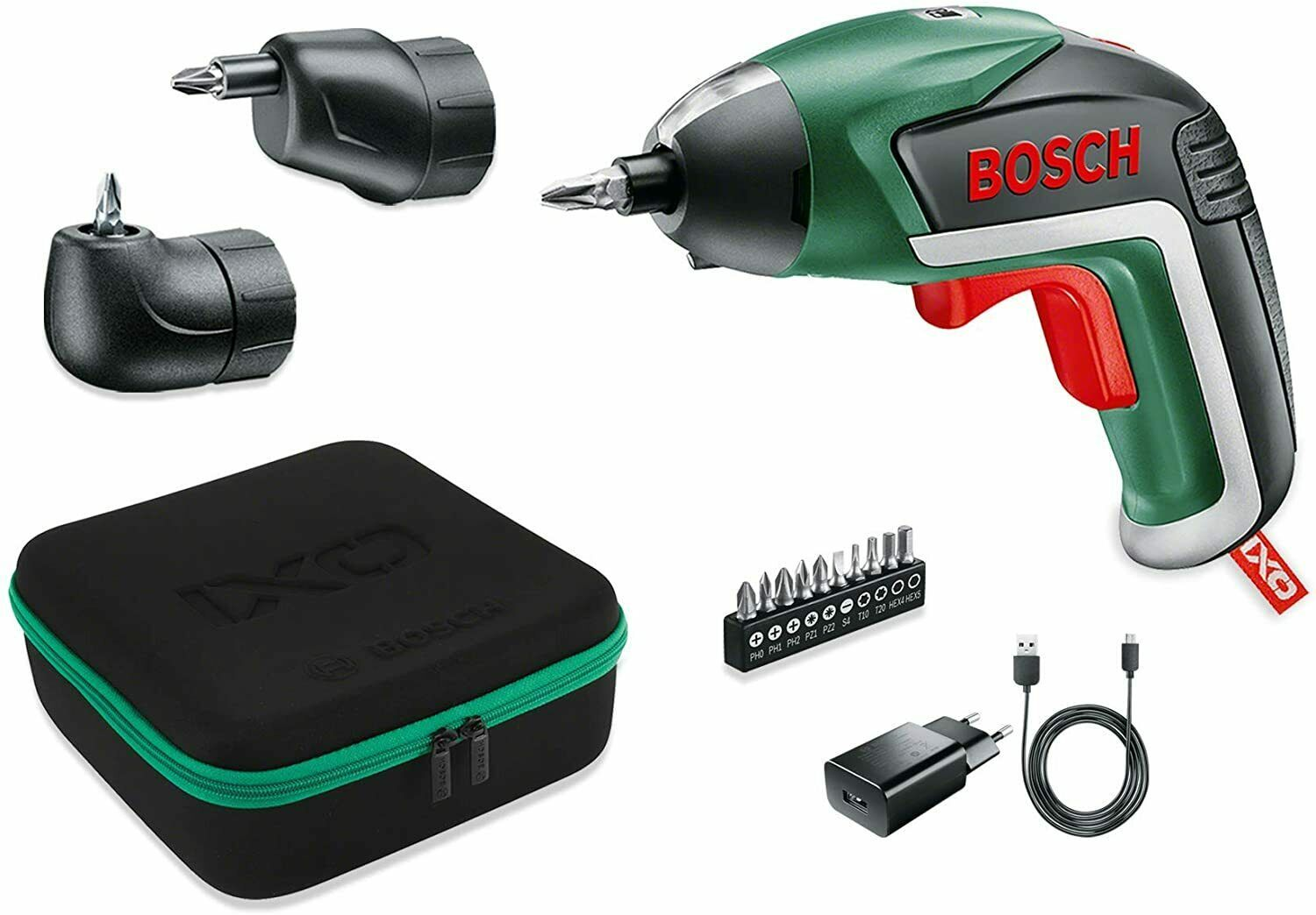 Bosch Ixo Set - Screwdriver To Battery Accessories Angle And Eccentric 10 Tips - $259.00