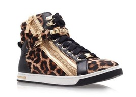 Michael Kors Womens Glam Studded Hi Top Ch Natural 5 M - $98.99