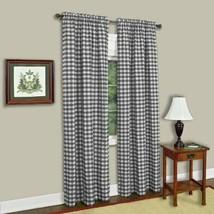 "Achim Home Furnishings Single Panel Buffalo Check 42"" x 84"", Black & White - $22.39"