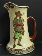 Antique Royal Doulton Clent Shape Jug Country Sayings Series Man Smokes Pipe Htf - $49.45