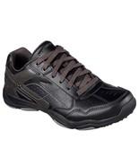 64933 Black Skechers shoes Men Memory Foam Sporty Casual Comfort Leather... - $39.99