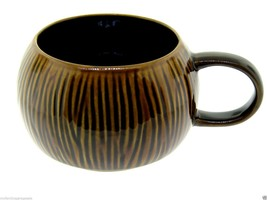 2013 Starbucks Limited Edition Raised Texture Brown Striped Coconut Tiki... - $22.95