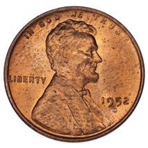 1952-D Sur S Lincoln Cents Ch Bu, Rouge Couleur, FS #1C 021.6 Breen #2206 - $39.33