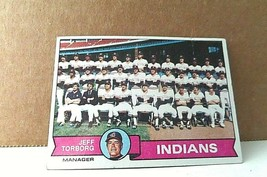 1979 Topps Cleveland Indians Team Picture Jeff Torborg, Manager #96 trad... - $1.24
