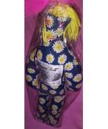Dammitt Doll Classic 12 inch Blue Yellow Flowers Yellow Hair - $15.25