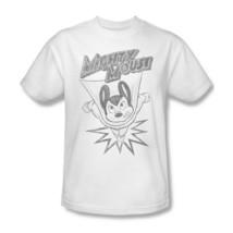 Mighty Mouse T-shirt retro superhero vintage cartoon cotton white tee CBS1134 image 1