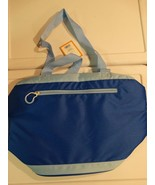 New! 12 Can Cooler Tote Insulated Liner BPA Free Blue for Beach, Camping... - $12.99