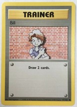Trainer Bill 91/102 Pokemon Card Original Base Set  LP Great Condition - $2.54