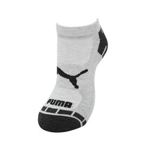 Puma Men's 6 Pack Athletic Gym Low Cut Moisture Control Cushioned Gray Socks image 2