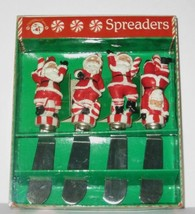 Boston Warehouse Cheese Spreaders Santa Peppermint Parade 2003 NIB NEW! - $9.49
