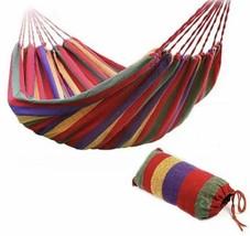 Rainbow Portable Indoor Outdoor Hammock Travel Camping Bed Fabric Heavy ... - $14.00
