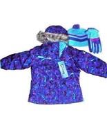 ZeroXposur Girl's R-Way Ski Hooded Jacket Winter Coat Gloves Beanie Purp... - $37.41