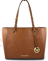 AUTHENTIC NEW NWT MICHAEL KORS $298 LEATHER WALSH BROWN MULTIFUNCTION TOTE - $148.00