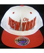 City Hunter New York Skyline Men's Adjustable Snapback Baseball Cap Whit... - $11.95