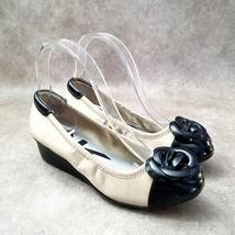 """Anne Klein Womens Delice  Sz 6 M Black Brown Slip On 2"""" Wedge - $24.99"""