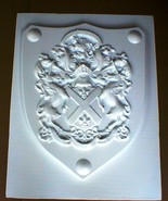 "Medieval Shield Mold 24x30x3"" Makes Concrete or Plaster Hanging Wall Pla... - $79.99"