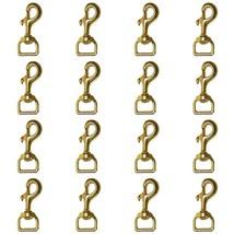 Set of 16 Hilason Swivel Eye Bolt Snap Clip Hooks Solid Brass U-TY16 - $54.40