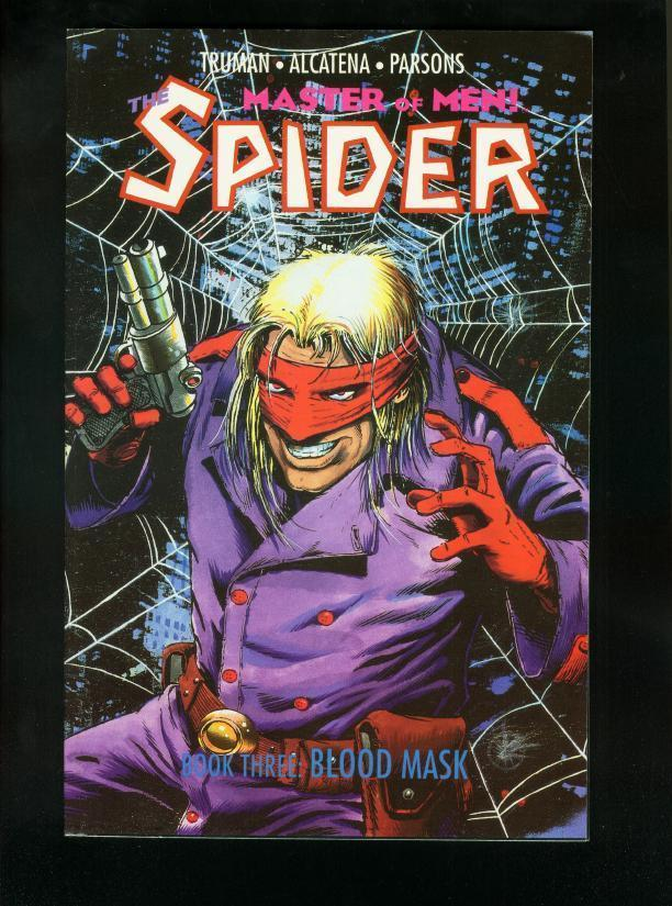 THE SPIDER BOOK THREE BLOOD MASK-1991 PULP HERO COMIC VF/NM