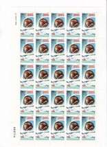 1980 WINTER OLYMPICS REPUBLIC OF GABON FULL SHEET WITH INFORMATION CARD ... - $6.78