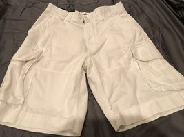 Nwt Mens Polo Ralph Lauren White Chino Cargo Relaxed Fit Shorts 30 - $31.49