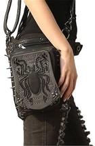Steel Master Steampunk Black Waist Leather Bags Leg Thigh Hip Holster P... - $115.94
