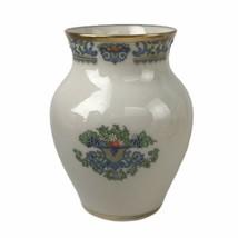 Lenox China Autumn Bud Vase Ivory Porcelain 24k Gold Trim Raised Enamel ... - $32.62