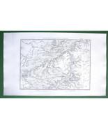 1859 ANTIQUE MAP Original - Germany Apolda Weimar Jena & Environs - $16.20