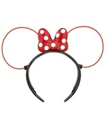 Disney Parks Minnie Mouse Glowing Ears Headband Light Up Polka Dot Bow - $24.74