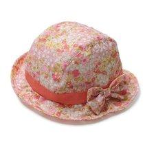 Floral Baby Girl Sun Protection Hat Infant Floppy Cap Toddler Sun Hat Orange50CM
