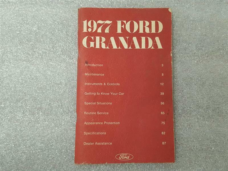 1977 FORD GRANADA Owners Manual 15885