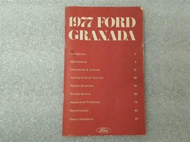 1977 FORD GRANADA Owners Manual 15885 - $16.78