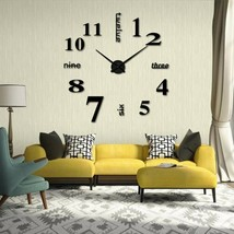 DIY Wall Mounted Clock Modern Unique Numbers Design Decorative - $9.31
