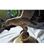 Vintage Brass Eagle On Ball Stand Figurine - $25.00