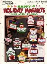Happy Holiday Magnets in Plastic Canvas Happy New Year Give Thanks Noel ... - $6.00