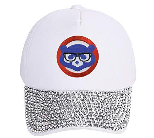 Chicago Cubs Womens Hat Chicago Cubbie with Joe Maddon Harry Caray Novelty Glass