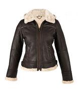 Womens Flying Aviator Shearling Bomber Sheepskin Biker Motorcycle Leathe... - $299.00