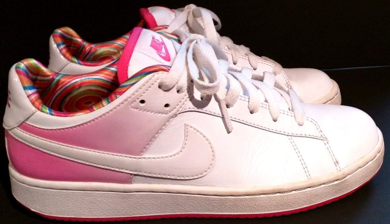 free shipping 00f93 e41ef 57. 57. Previous. NIKE SANTA CRUISE 318872 White, Hot Pink Athletic Tennis  Shoes - Womens Size  8