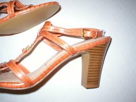 New Womens 9.5 Easy Spirit Orange Heels Sandals $80 Slingback Leather Shoes - $42.75 CAD