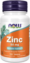 Zinc Gluconate 50mg Now Foods 100 Tabs NOW Foods - $29.15