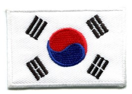 Flag of South Korea Korean asia embroidered applique iron-on patch S-105 - $2.95